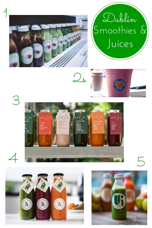 Favourite places for green juice in Dublin
