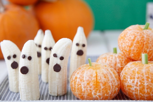 Tangerine Pumpkins Banana Ghosts